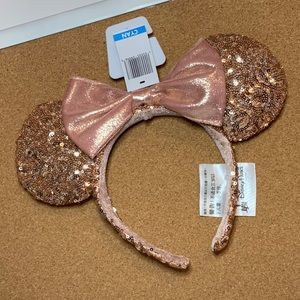2017 Rose Gold Sequin Minnie Ears Headband